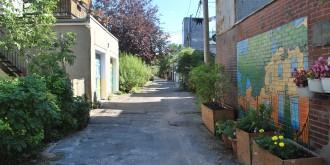 "Plateau Mont-Royal ""Ruelle Verte"" Alleyway"
