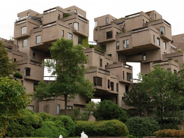 Moishe Safdie's plan was to create cheap, prefabricated housing for the masses.
